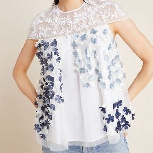 """Not So Serious """"Ada Tulle Swing Blouse."""""""